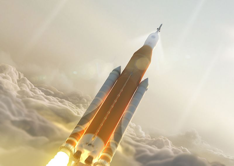 Orion moon mission SLS