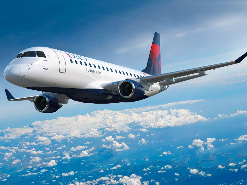SkyWest will operate the E175 aircraft for Delta. Credit: Embraer.