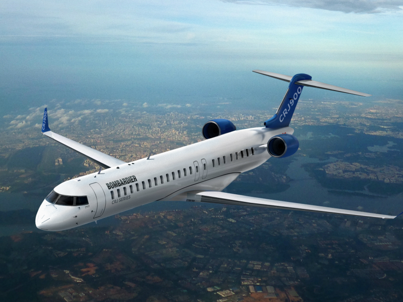 The CRJ900 is the latest member of Bombadier Aerospace Canadair regional jet family. Credit: Bombardier Aéronautique - Commercial Aircraft.