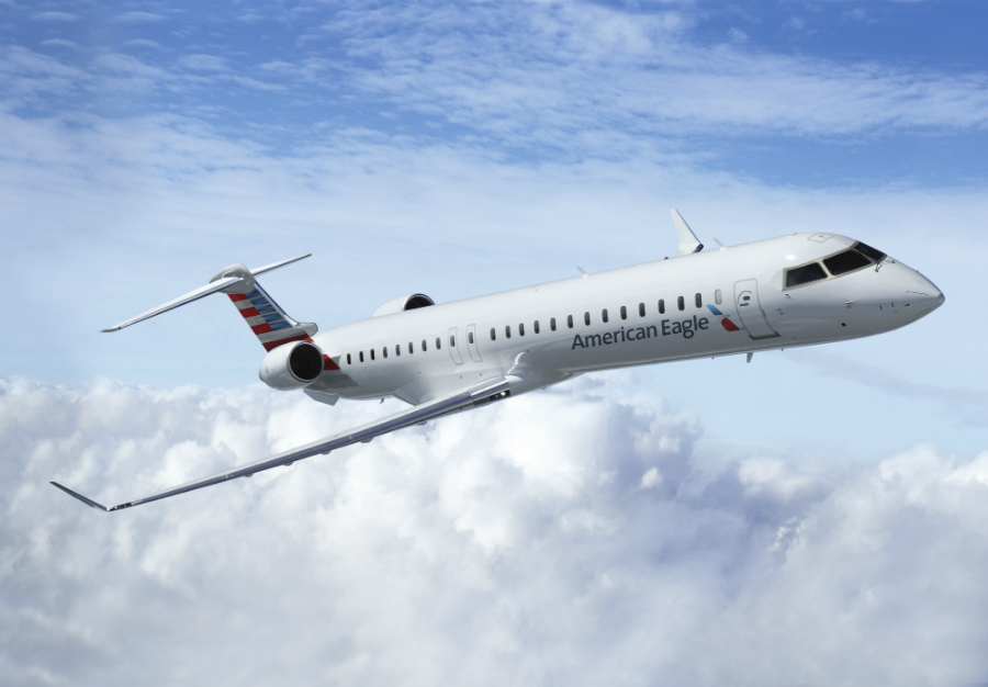 A view of the first American Airlines CRJ900 NextGen regional Jet.