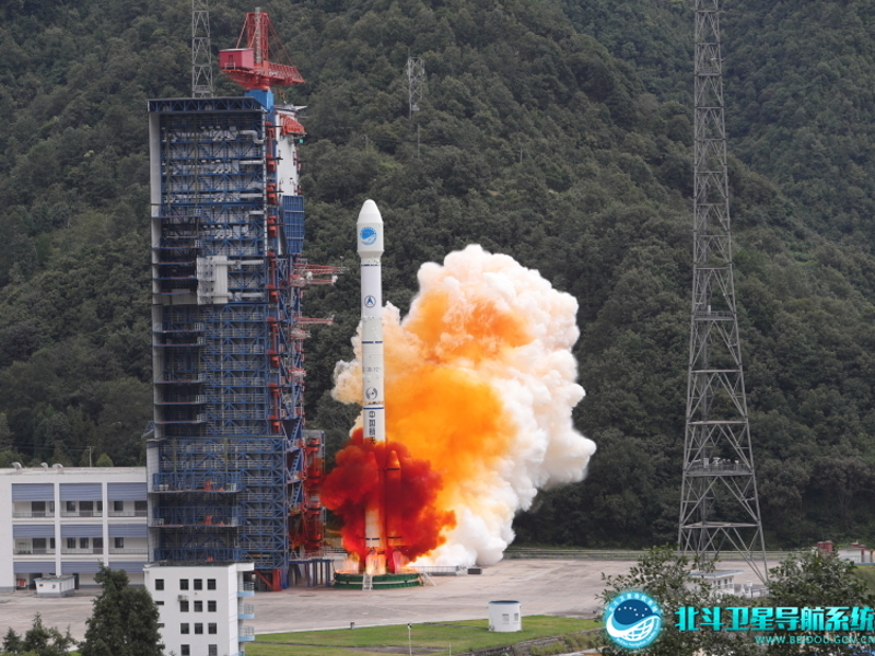 BeiDou navigation satellite system (BDS) is a high-precision navigation mission launched by China. Image courtesy of BeiDou Navigation Satellite System.