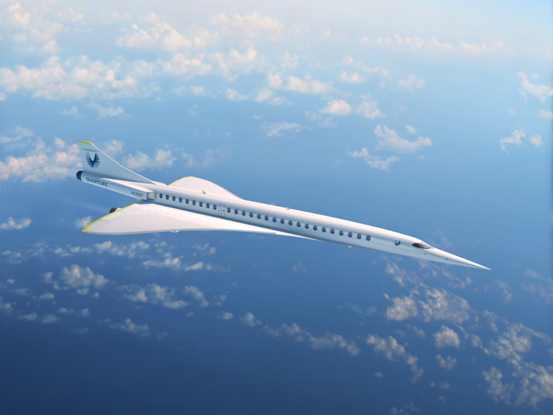 Overture will be the fastest commercial jet upon its introduction. Credit: Boom Technology.