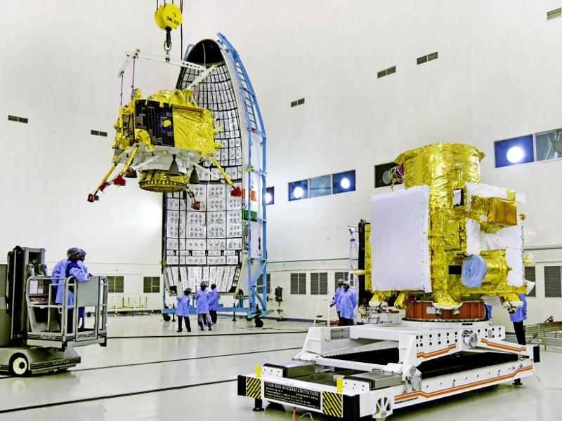 The Chandrayaan-2 lander is named Vikram. Image courtesy of ISRO.