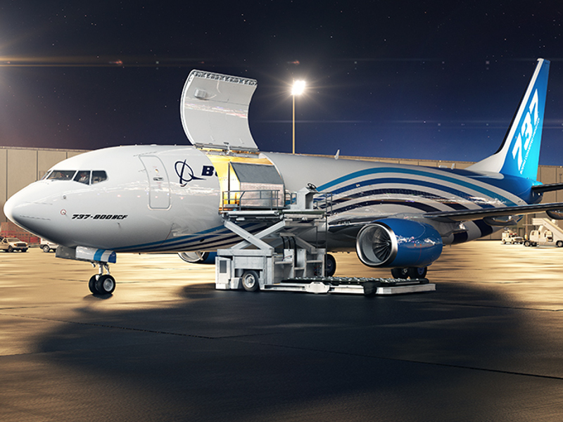The 737-800BCF offers maximum payload of 23.9t. Credit: Boeing.