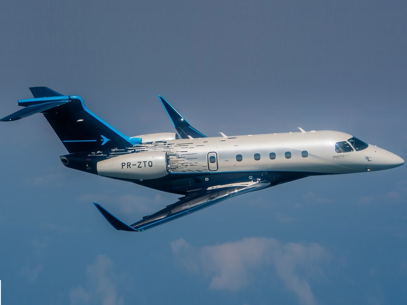 Praetor 500 is a technologically disruptive and one of the world's fastest mid-size business aircraft developed by Brazilian aerospace conglomerate Embraer. Credit: Embraer.