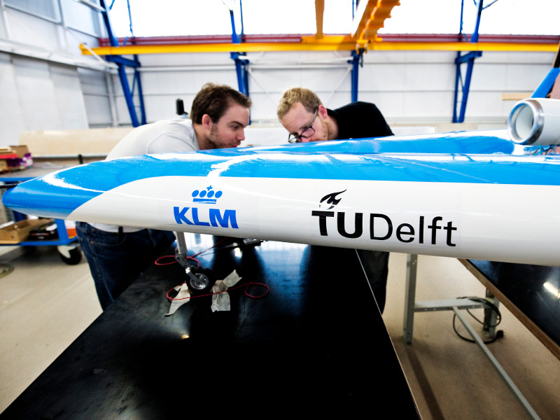 Flying-V scale model was presented at the KLM Experience Days in October 2019. Credit: TU Delft.