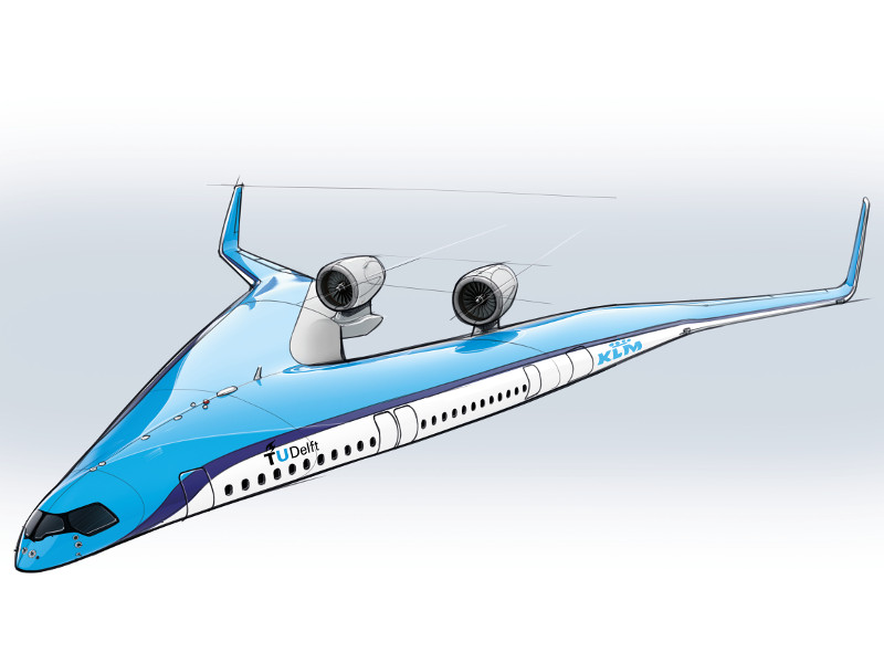 The aircraft will have the capacity to accommodate 314 passengers. Credit: TU Delft.