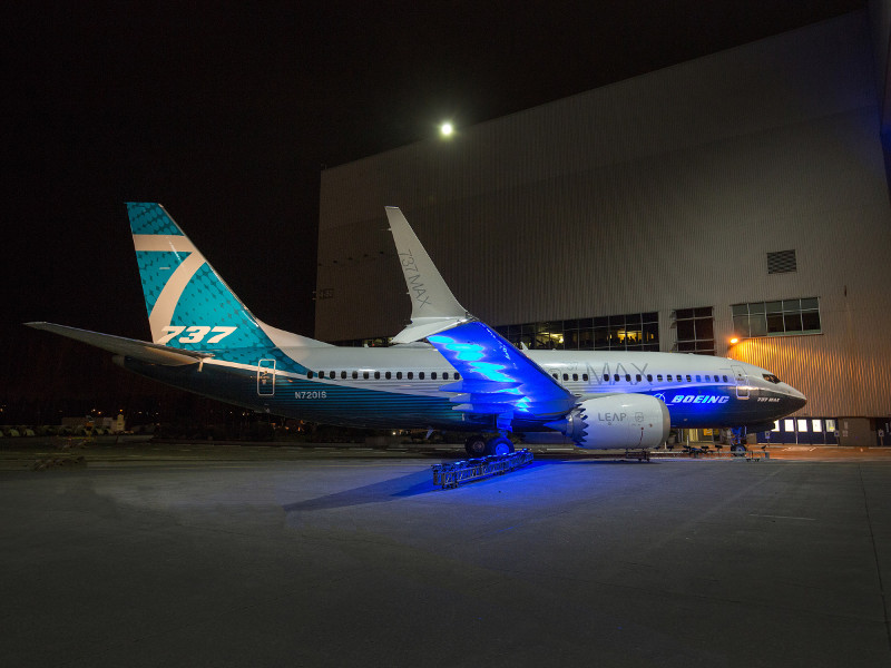 Boeing 737 MAX Twin-Engine Airliner