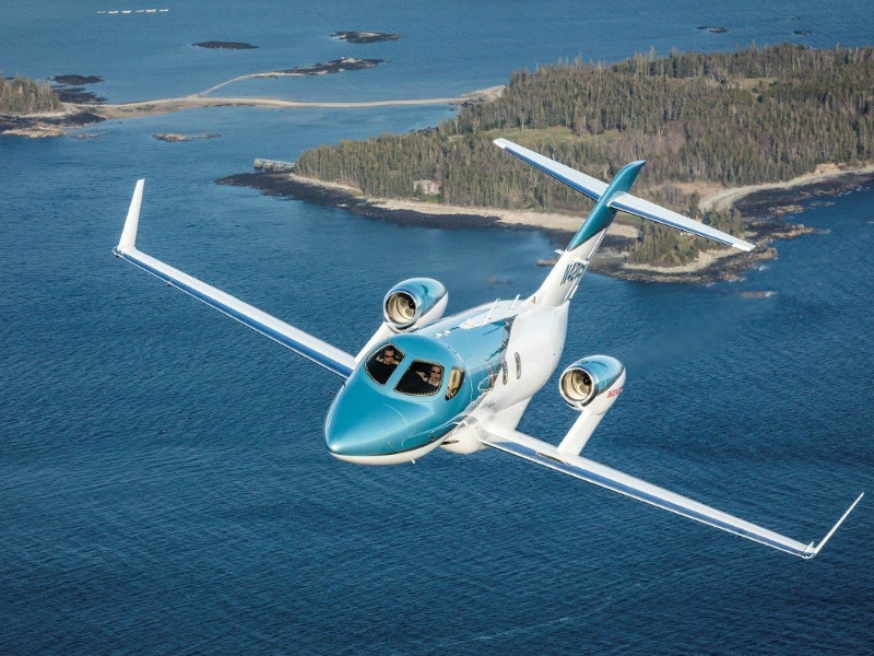 HondaJet Elite is a very lightweight business jet manufactured by Honda Aircraft Company. Credit: Honda Aircraft Company.