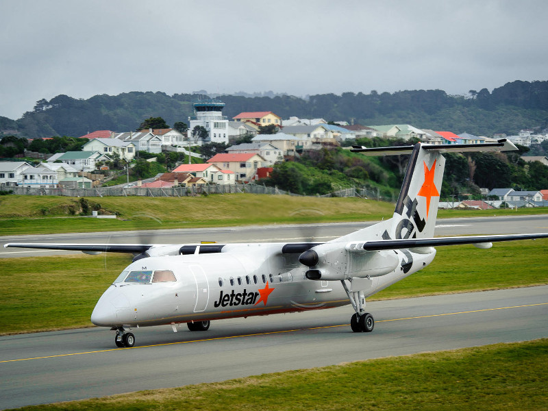 Q300 has a longer passenger cabin than the Q200 aircraft. Image courtesy of Jetstar Airways.