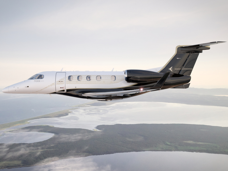 Embraer Phenom 300E is a fastest and longest-range single-pilot business jet. Credit: Embraer S.A.