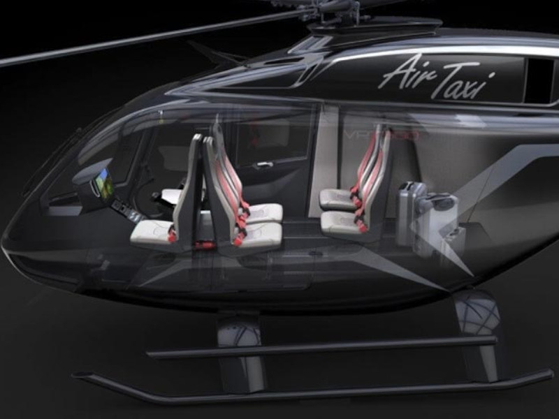 The VRT500 helicopter can be configured as air taxi. Credit: VR-TECHNOLOGIES, LLC.