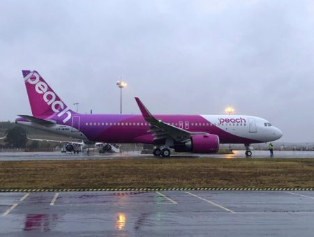 Japan's Peach Aviation receives first of 28 new A320neo aircraft