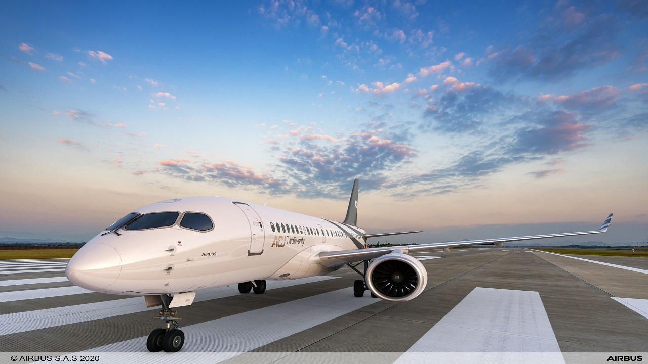 The ACJ TwoTwenty business jet will enter service in 2023. Credit: Airbus.