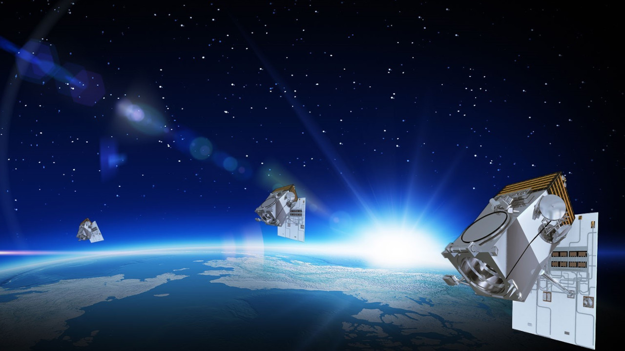 The WorldView Legion constellation will include six high-performance satellites. Credit: Maxar Technologies.