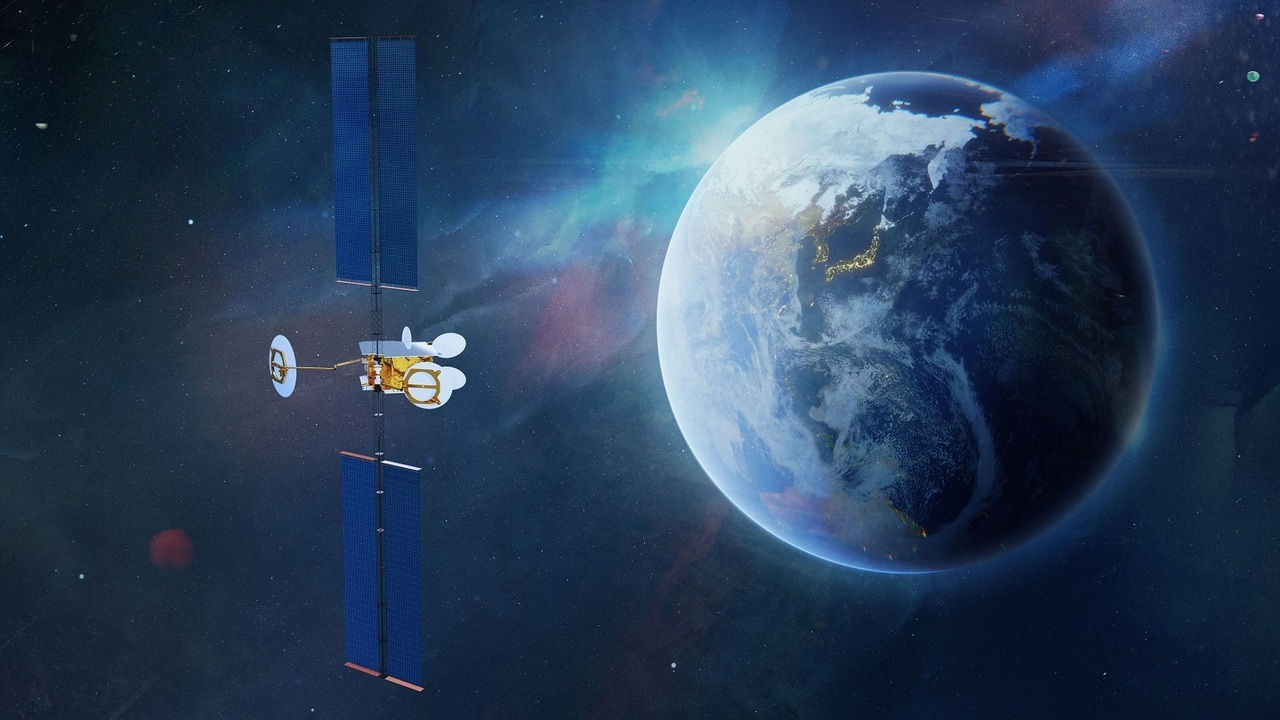 Expected to be launched in 2024, the Superbird-9 satellite is based on Airbus' OneSat product line. Credit: Airbus.