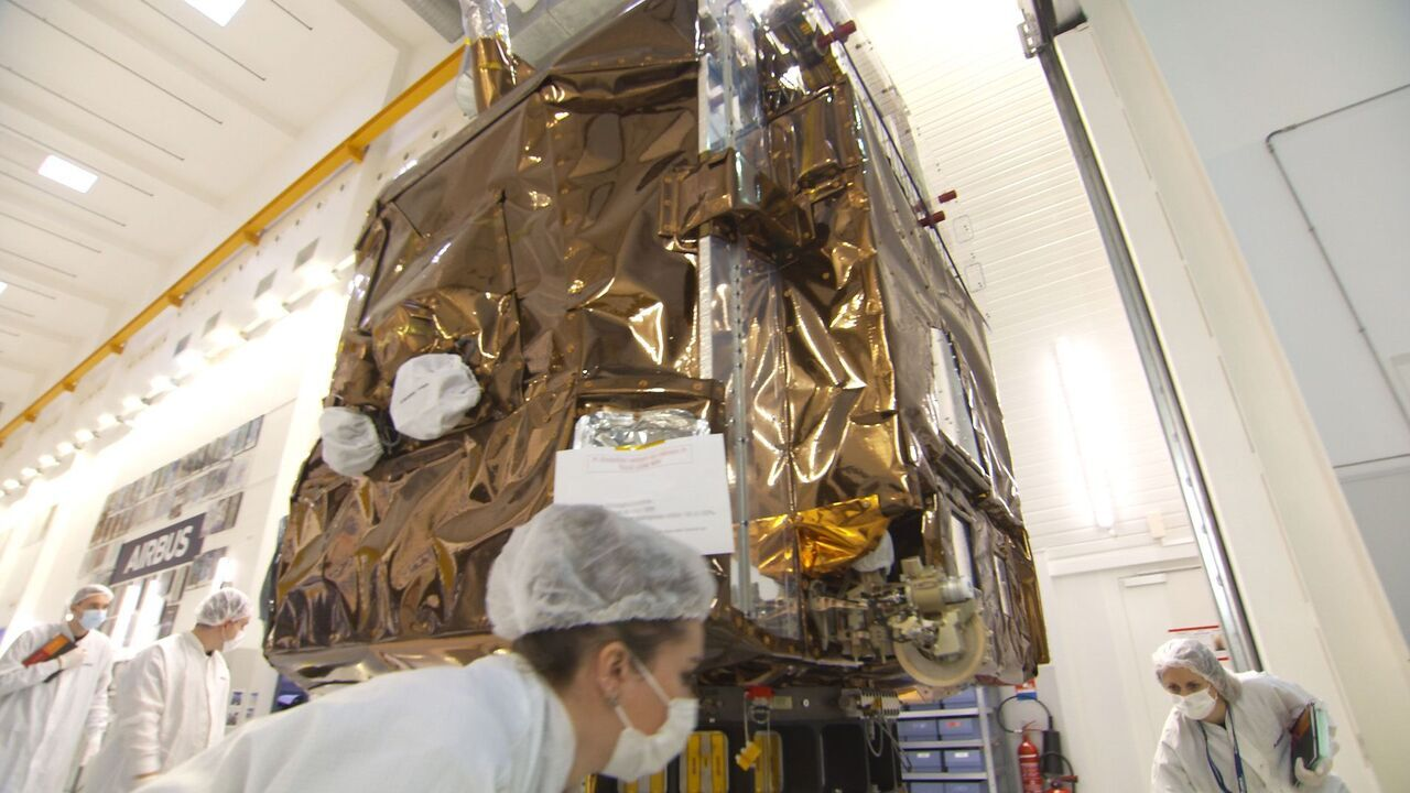 Launched from French Guiana, the Pléiades Neo 3 will offer 30cm-resolution multi-spectral satellite imagery. Credit: Airbus.