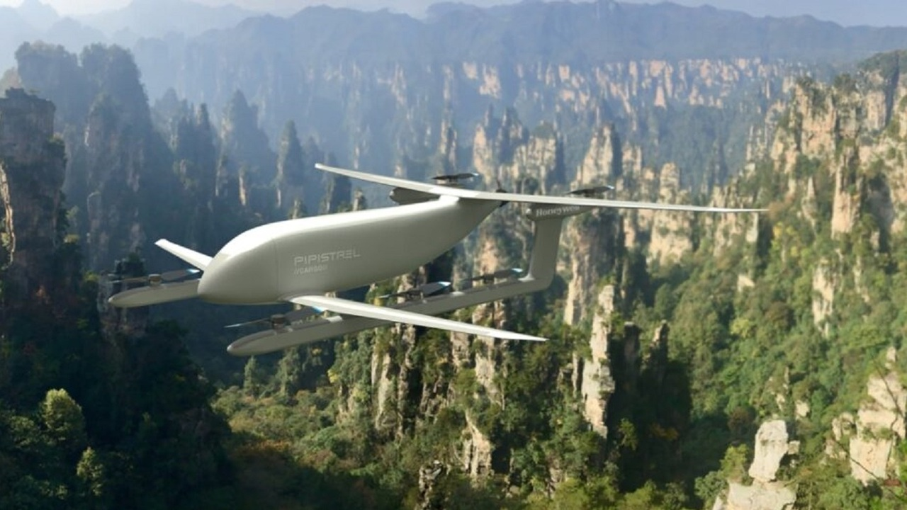 The heavy cargo VTOL drone will be used to deliver goods to places lacking logistics infrastructure. Credit: Pipistrel.