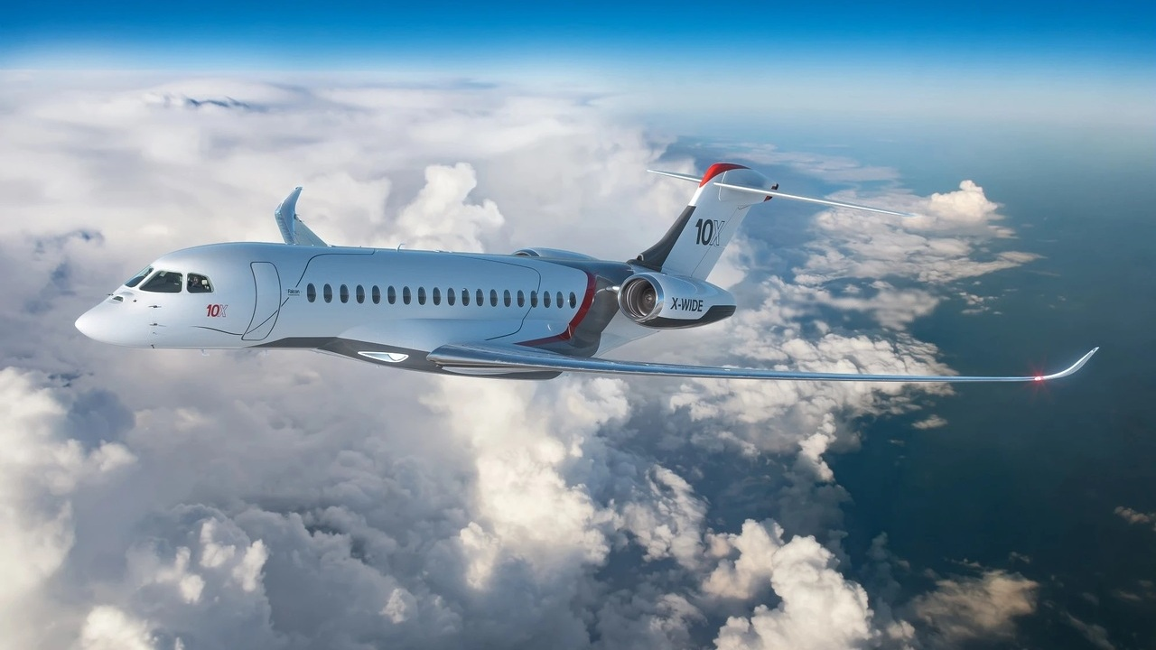 Dassault Aviation's Falcon 10X will enter service by the end of 2025. Credit: Dassault Aviation.