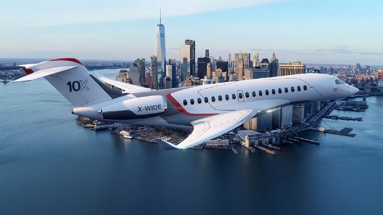 The business jet will have a range of approximately 13,890km. Credit: Dassault Aviation.