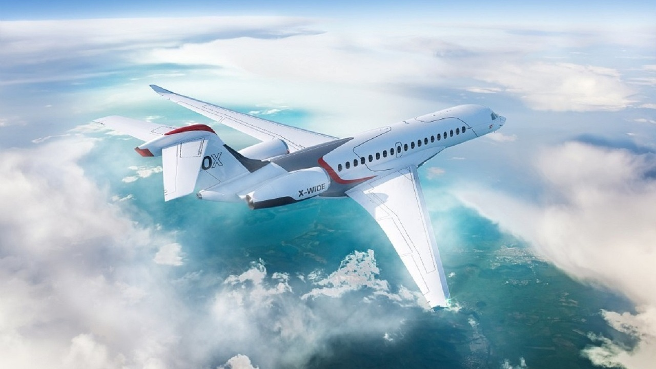 The Falcon 10X business jet will be powered by Rolls Royce's new Pearl 10X engine. Credit: Dassault Aviation.