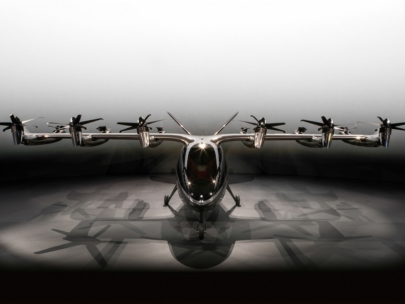 Maker's 12 rotors are powered by a 75kWh lithium-ion battery. Credit: Archer Aviation.