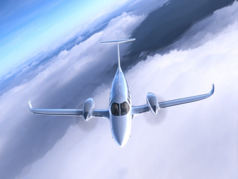 Bye Aerospace's eFlyer 800 can fly at a maximum cruise speed of 592.6km/h. Credit: Bye Aerospace.
