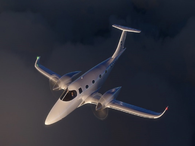 The all-electric aircraft can be operated at only one-fifth the cost of traditional twin turboprops. Credit: Bye Aerospace.
