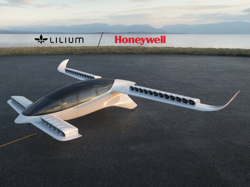 The seven-seater Lilium Jet is powered by Lilium's proprietary Ducted Electric Vectored Thrust (DEVT) system. Credit: Lilium.