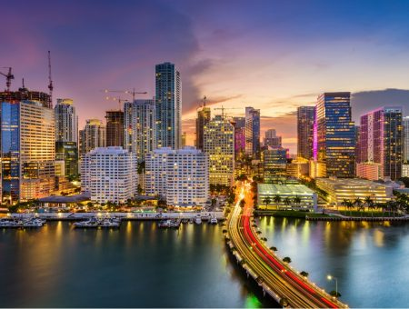 Miami-Florida-nightime
