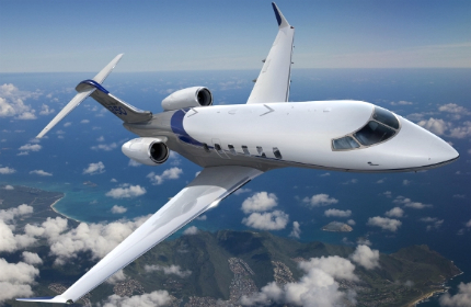 Challenger 350 is a mid-size business jet