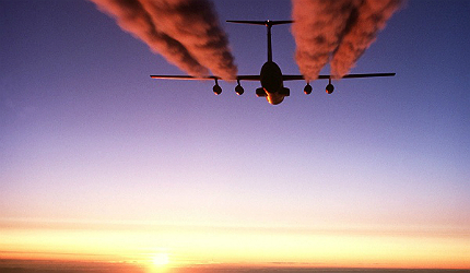 Between 1990 and 2006, the aviation industry's carbon footprint