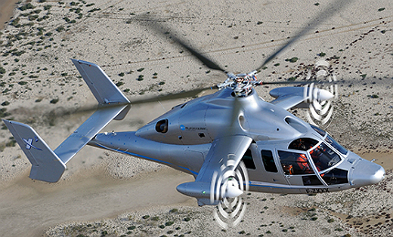 X3 demonstrator is a high speed, long-range hybrid helicopter