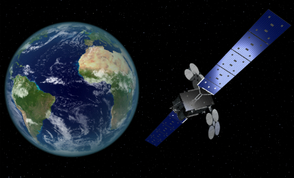 Artist's rendering of Al Yah 3 communications satellite.