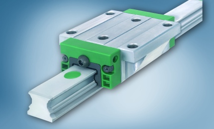 Linear guide, wear protected by DURALLOY
