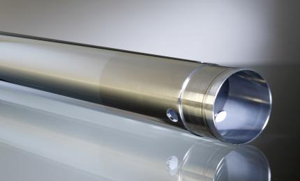 Suspension tube selectively coated with hard chrome (SELGA-COAT® CHROME