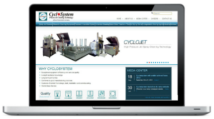 Cyclosystem website