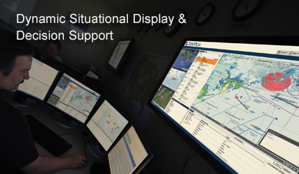 Dynamic situational displays, decision support