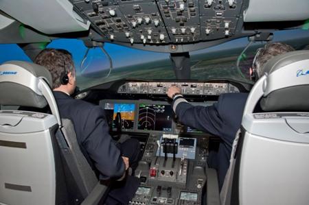 787 full flight simulator