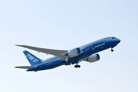 Boeing 787 aircraft