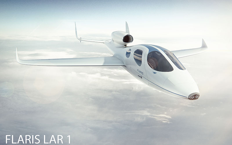 The business jet accommodates up to four passengers.